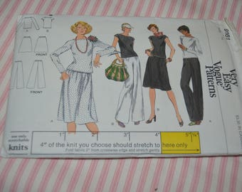 Vogue 9161 Misses Top Skirt and Pants Sewing Pattern - UNCUT - Size 14