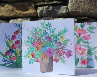 3 Pack Flower Cards