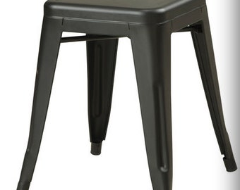"""Custom Painted Tolix Style Mini Stool in the Color of your Choice 18"""" Height"""