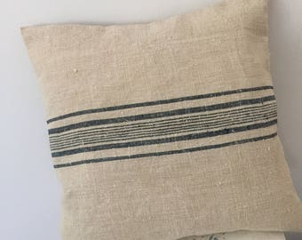 Cushion covers from vintage grainsack fabric