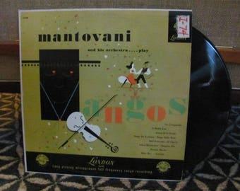 "Vintage 60's ""Mantovani and His Orchestra Play Tangos"" Vinyl Record Album - Tango Dance Music - Tango Ballroom Dance"