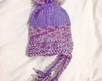 Purples ~Winter Storm~ pom-pom hat