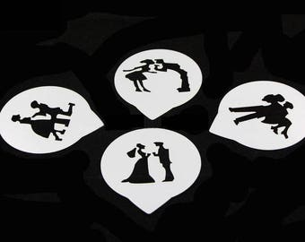 Wedding, Proposal, Romance, Carry over Threshold, Lovers Stencils 4 pack