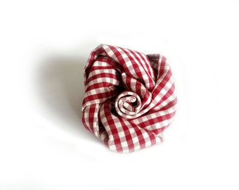 Kitchen towel gingham red and white, gift for mom