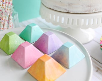 Rainbow Pyramid Chocolates- Fake candy, prop candy, party decor