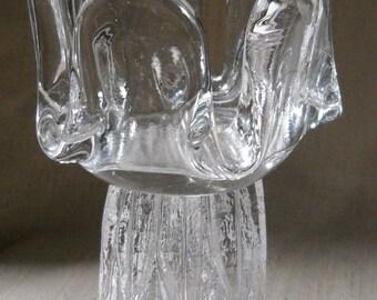 Kosta Boda Sunflower Large Candle Holder by Goran Warff Scandinavian Art Glass