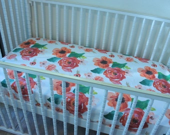 Floral Dreams Baby Bedding, Just Stunning!  Floral baby blanket, floral crib sheet, floral crib skirt, baby bedding with roses
