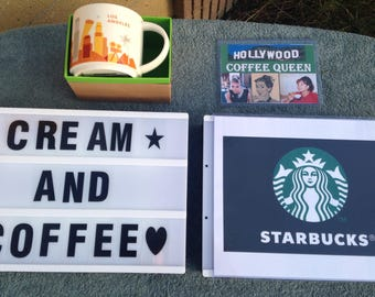 Starbucks coffee los angeles city mug & custom sign California