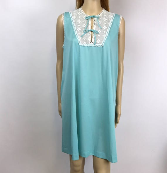 cd678154e 60s Turquoise Nightgown Vintage Slip Vanity Fair Negligee size