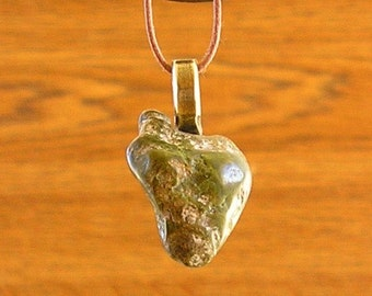 1 STONED Necklace with a  tumbled stone from the Taos Plateau - Rio Grande Gorge Area - 3 to choose from