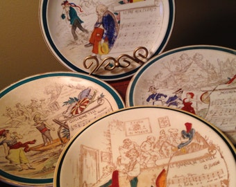 """Rare vintage """"French Reproduction"""" opera plates by Vernon Kilns"""
