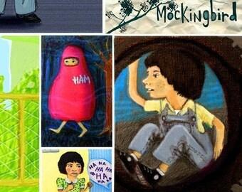 Ode to To Kill a Mockingbird • 13x19 limited edition giclee art print • film • movie • literature • children • scout • book • atticus • jem