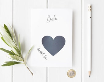 Pregnancy reveal card for husband, partner, boyfriend, you're going to be a Dad, Father, Daddy,  personalise with name