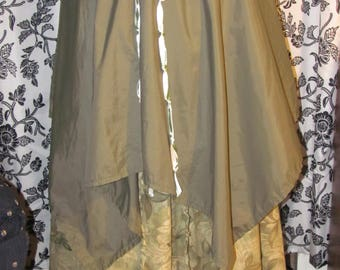 Peasant Skirt with Overlay and Hidden Pocket