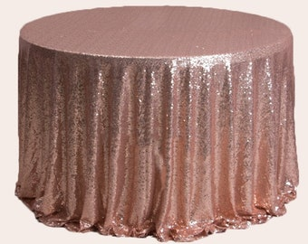 1pc Rose Gold Glitter Sequin Tablecloth Engagement Anniversary Reception Ceremony Christening Birthday Wedding Cake Table Cover Backdrop