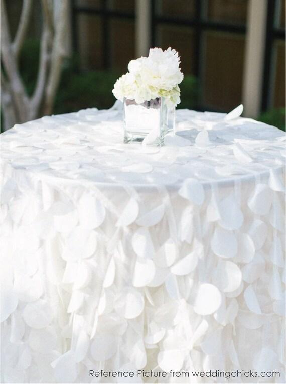 Shimmery Petal Tablecloths Made To Order White Taffeta Petal