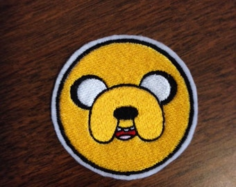 Jake the Dog from Adventure Time - Iron on Embroidered Patch