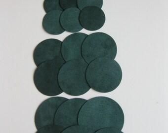 Circles 24 Dark Green Ultrasuede