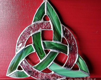 Celtic knot, Sun catcher, stained glass,  ornament, window art, home decor