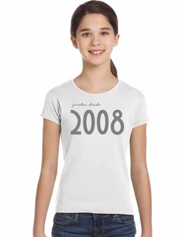 Girl t-shirt or body JUNTOS DESDE...
