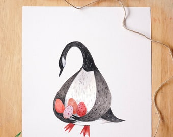 Mother Goose -  Fine Art Giclée Archival Print