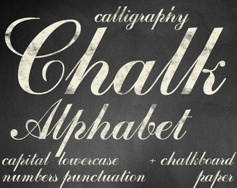 Digital Beige Chalkboards Alphabet for scrapbooking, chalk clipart, Papercrafts, Wedding Decor, Instant Download, printable lettering (7)