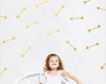 9 wall decals arrow gold / gold