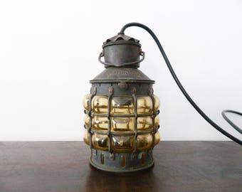 Antique Schiffslamp/, old anchor lamp/vintage lamp 7 antique lamp/glass/Metal