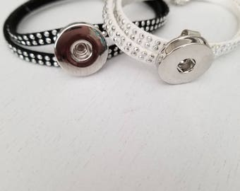 18mm faux leather ginger snap braclet