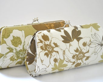CUSTOM CLUTCH - A SET of 2 Bridesmaids Clutches -  Create a Custom Bridesmaid Clutches in your choice of fabrics
