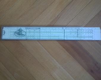 Vintage German Slide Ruler FABER CASTELL 57/87 Reitz Schul-Rechenstab - 70's