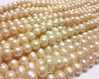 1 STRAND Freshwater Pearls Natural Color
