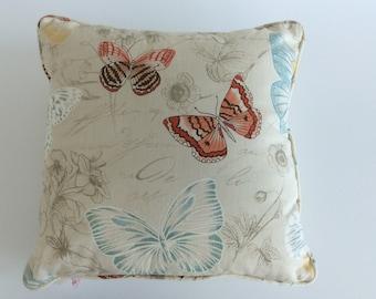 Luxury cushion pillow cover butterflies print