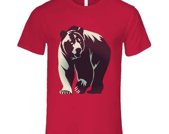 Big Brown Bear Men's T Shirt   Men's Bear Shirt   Animal T-Shirts   Animal Graphic Tees   Outdoors Men's Tees   Nature Lovers Apparel
