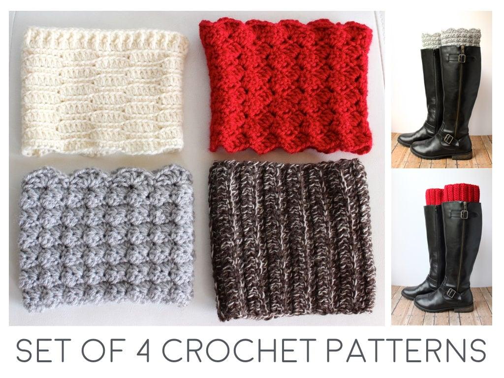 Boot Cuff Crochet Pattern - Crochet Boot Cuffs Pattern - Boot ...