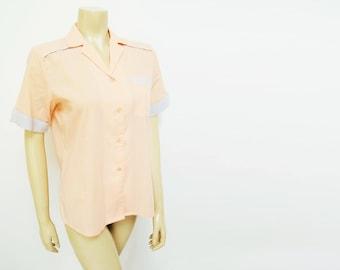 Ladies Shirt, UK14, Tomboy, Festival Clothing, Retro Fashion, Darts Player, Ladies Clothing, Vintage Clothing, Pink Shirt, Women's Clothes