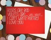Love card - 'Roses ar...