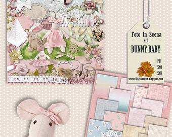 Digital kit BUNNY BABY, easter, easter bunny, bunny, baby, newborn baby