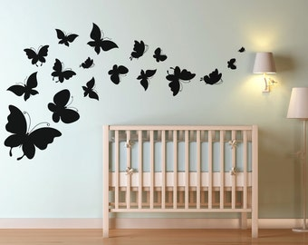 Beautiful Butterfly Swoop Wall Decal