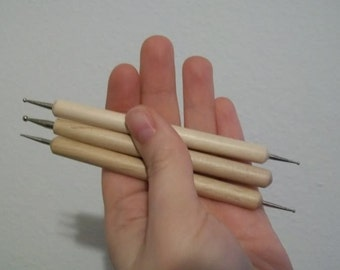 3 pack stylus for sculpting ooak fairy doll
