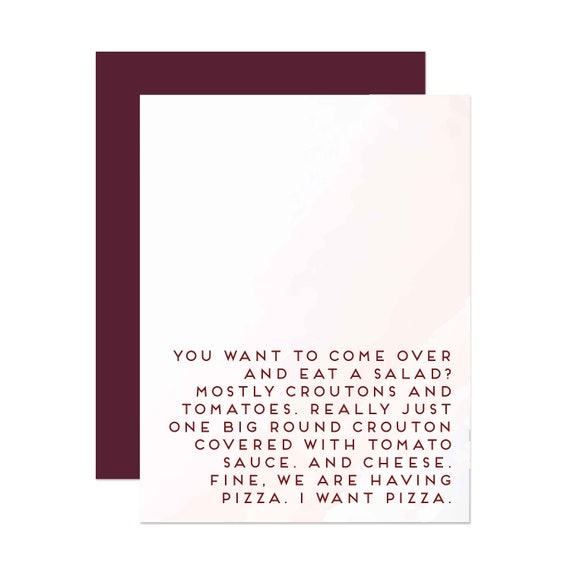 I Miss You, Let's Eat Pizza - Greeting Card