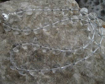 Mountain Crystal Chain 10 mm with hematite #572