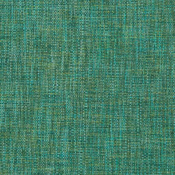 Turquoise Tweed Upholstery Fabric Emerald Green Woven
