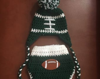 Baby Philadelphia Eagles hat or diaper cover, newborn Philadelphia Eagles baby outfit, newborn Eagles photo prop, boys Eagles hat