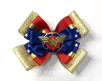 Wonder Women Hair Bow