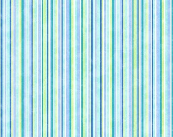 Snow Bears Stripes Flannel Quilt Fabric by the 1/2 yard