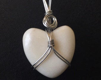 The hearts and swirls pendant