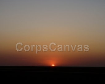 Sunset over the plains of Mosul, Iraq.