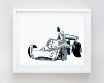 Tyrrell Racing car -  grey car, formula one racing car, nursery decorating ideas, boys car, children, nursery car, nursery decor