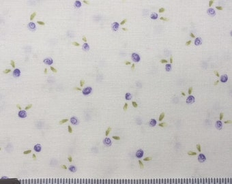 Lakehouse Dry Goods Pam Kitty Garden Apples Lavender Purple 1930's Reproduction Quilt Fabric